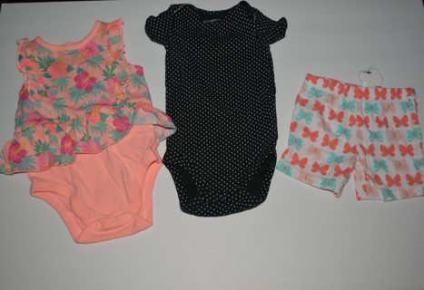 Baby Girls Summer Clothes Size 3-6 Months