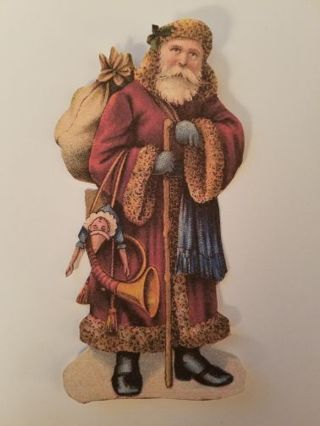 Father Christmas Vintage Cutout, #0915