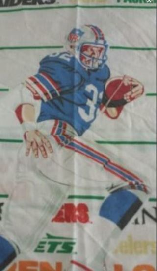 Vintage Football Major Sports Teams Twin Flat Sheet FREE SHIPPING