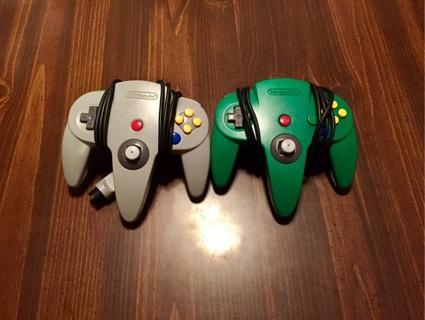 2 N64 Controllers
