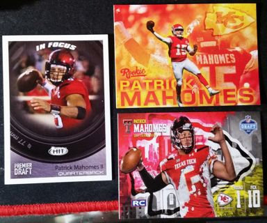Patrick Mahomes ROOKIE CARDS 3 Card Lot
