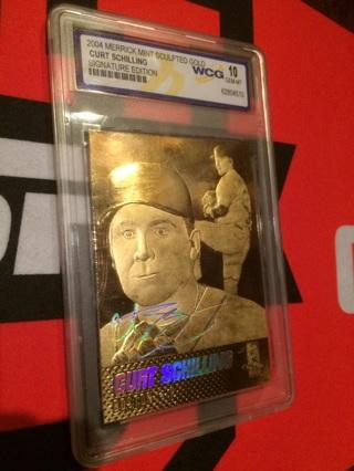Free Curt Schilling Graded 10 Gem Mint Gold Plated Baseball Card