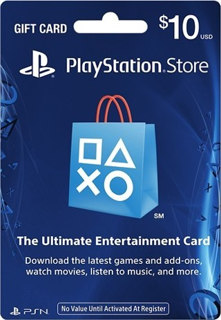 1 $10 PlayStation Store Gift Card - PS3/ PS4/ PS Vita Code
