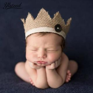 0-2 Years Old Newborn Photography Props Baby Crown Hat for Photoshoot Natural Retro Baby Boys Girl