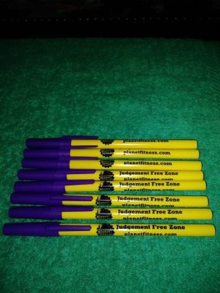 "❤✨❤✨❤️8 BRAND NEW PURPLE ""PLANET FITNESS"" INK PENS❤✨❤✨❤WINNER GETS ALL!"