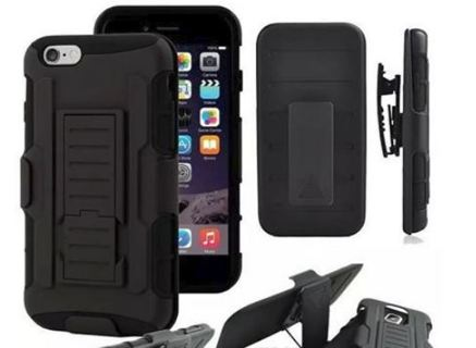 NEW iPHONE 7 Phone Case with Holster & Clip Kick Stand Scratch-Resistant Shock Absorbent