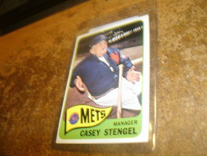 vintage 1965 topps#187 hof casey stengel-mets-ex+