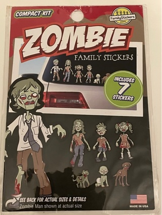 Zombie Family stickers for your car