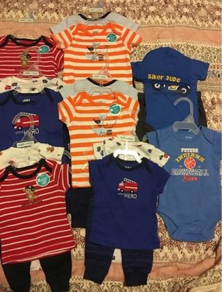 Boy baby clothes lot: Newborn, 0-3 months, 3-6 months