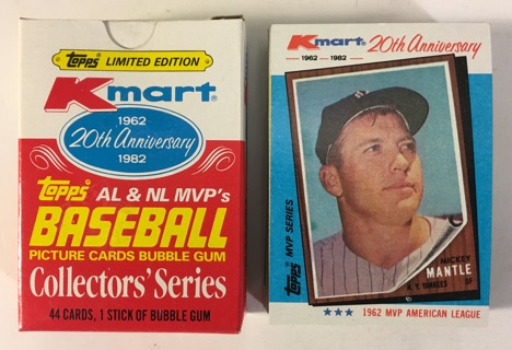 Free Topps Limited Edition Kmart 20th Anniversary 1962 1982 Al Nl