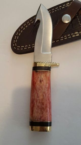 One cool Lot custom handmade stainless steel blade Hunting knife and handmade jewelry see all pics
