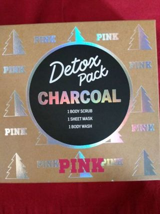 Victoria's Secret Pink charcoal detox pack