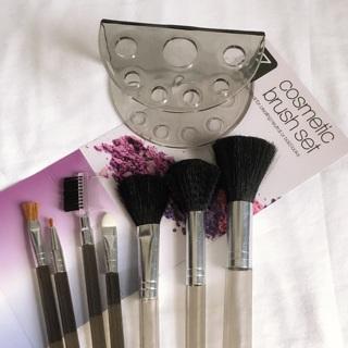 7pc Gray Brush Set