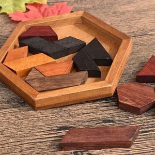 Tangram Wooden Jigsaw Educational Kids Toy Brain Teaser Jigsaw Puzzle