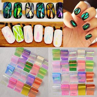 20Pcs Starry Sky Foils Finger DIY Nail Art Transfer Glitter Decal Stickers DIY