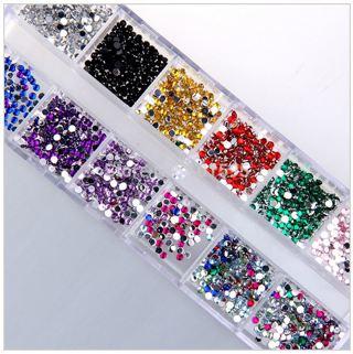 Amazing Teardrop Acrylic Gems Nail Art - 12 Colors w/Case ***GIN BONUS***