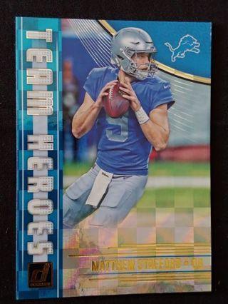 Detroit Lions - Matthew Stafford Hologram Insert Football Card