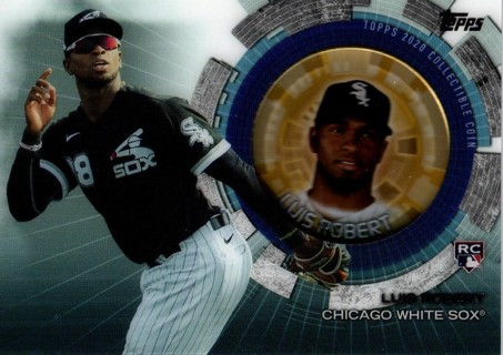2020 Topps Update Collector's Coin Card Insert Luis Robert Chicago White Sox RC $$$$ #TBC-LR!!