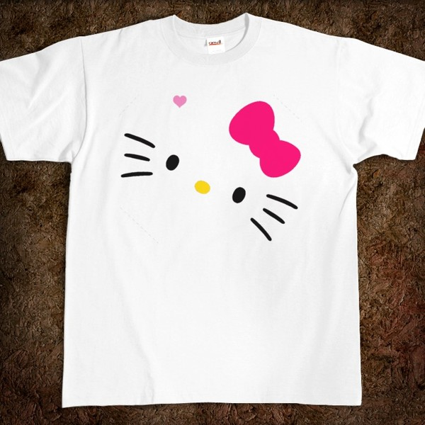 Free diy hello kitty logo t shirt make your own do for T shirts with your own logo