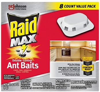 75% DISCOUNT! Raid Max Double Control Ant Baits, 0.28 oz, 8 CT (1)