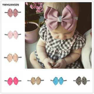YWHUANSEN 30 Color New Baby Hair Bow Flower Headband Silver Ribbon Hair Band Handmade DIY Hair Acc