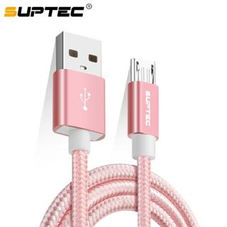 SUPTEC Micro USB Cable, Nylon Fast Charging Data Sync Cable for Samsung A5 J7 S7 S6 Huawei Xiaomi