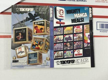 MANGA TOKYO POP SNEAKS PROMO MANGA ANIME BOOKS FREE SHIPPING