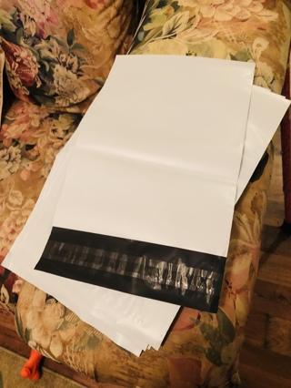 Ten (10) Poly Envelopes 7.5 X 10