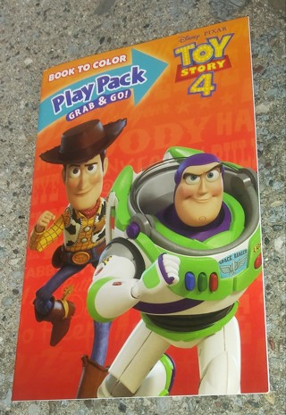 TOY STORY 4 SMALL COLORING BOOK WITH STICKERS USE YOUR OWN CRAYONS