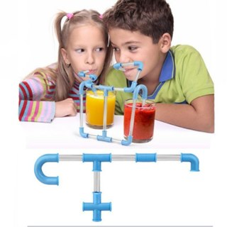 Funny Connectible Beer Soda Drinking Straws Set Crazy Flexible Sucking Plastic Tubes for Kid Fun