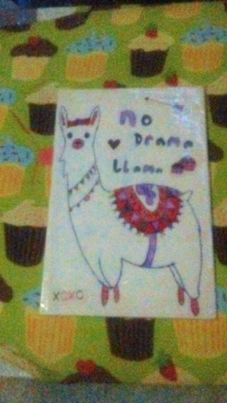 Handmade llama/alpaca bookmark