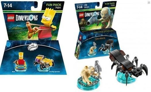 new lego toys sealed packages THE SIMPSONS LORD OF THE RINGS