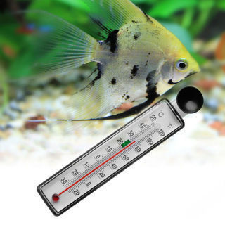 [GIN FOR FREE SHIPPING] Fish Tank Aquarium Thermometer Glass Gauge Suction Cup