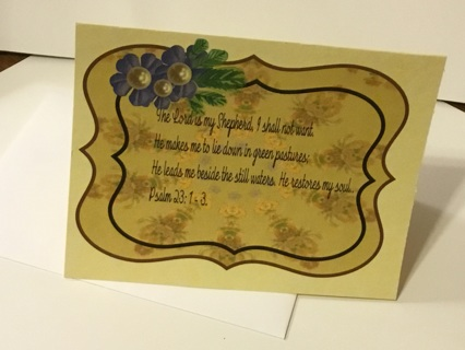 free 1 encouragement card psalm 23 1 3 color printed ready for