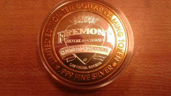 $10.00 Fremont silver strike