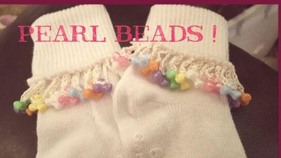 0-6 month girls hand crochet jingle socks any color NWT! 2 PAIRS