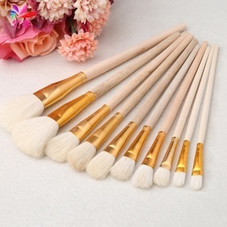 10PCs Art Painting Oil Acrylic Watercolor Drawing Craft DIY Kid Paint Brushes Painting Supplies