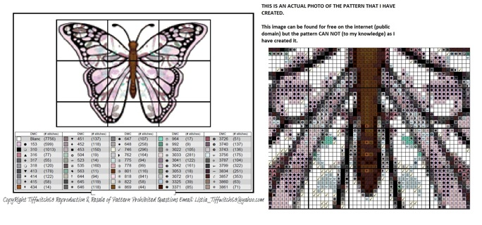 Watercolor Butterfly Cross Stitch Pattern ***WINNERS CHOICE***