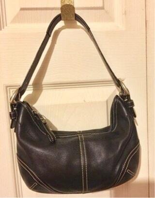 5b0b33cf999c8 Free: COACH Soho Hobo Handbag Purse A05D-9541 Black Leather Genuine ...