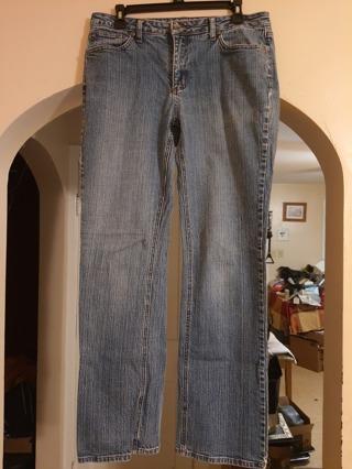 St. John's Bay Ladies Blue Jeans size 12.