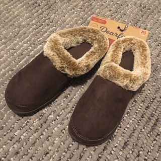 ⭐️ NWT Women's XL 11-12 Memory Foam Fur Trim Brown Slippers Shoes NWT ⭐️FREE SHIPPING⭐️
