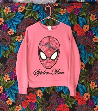 Marvel  Pink spider man pullover sweater marvel