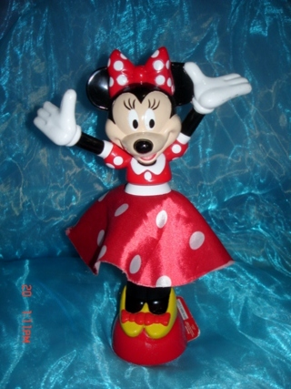 Free Minnie Mouse Spinning Light Up Doll Figure Free Ship