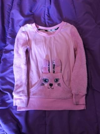 Girl toddler pink bunny shirt