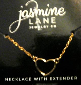 Jasmine Lane's Gold Heart Necklace