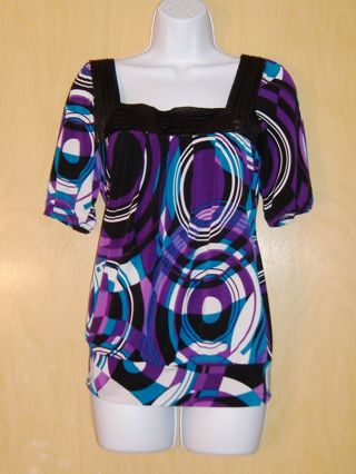 HEART SOUL WOMENS SMALL DRESS TOP NICE