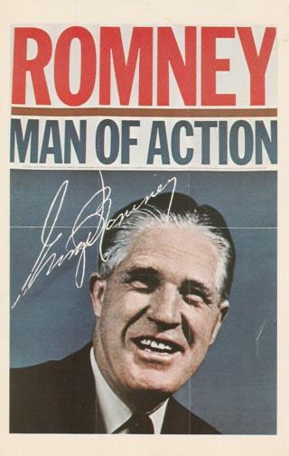 """Vintage Unused Postcard: George """"Mitt"""" Romney, Governor of Michigan"""