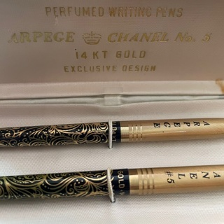 Rare Arpage Chanel no 5 14kt Gold perfumes writing pens