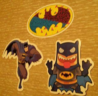 3 Batman Vinyl Decals DC Laptop Skateboard Bike Motorcycle Sticker Bomb