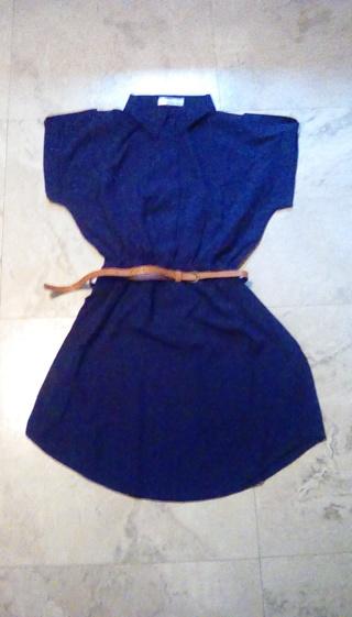 Ladies dress navy blue